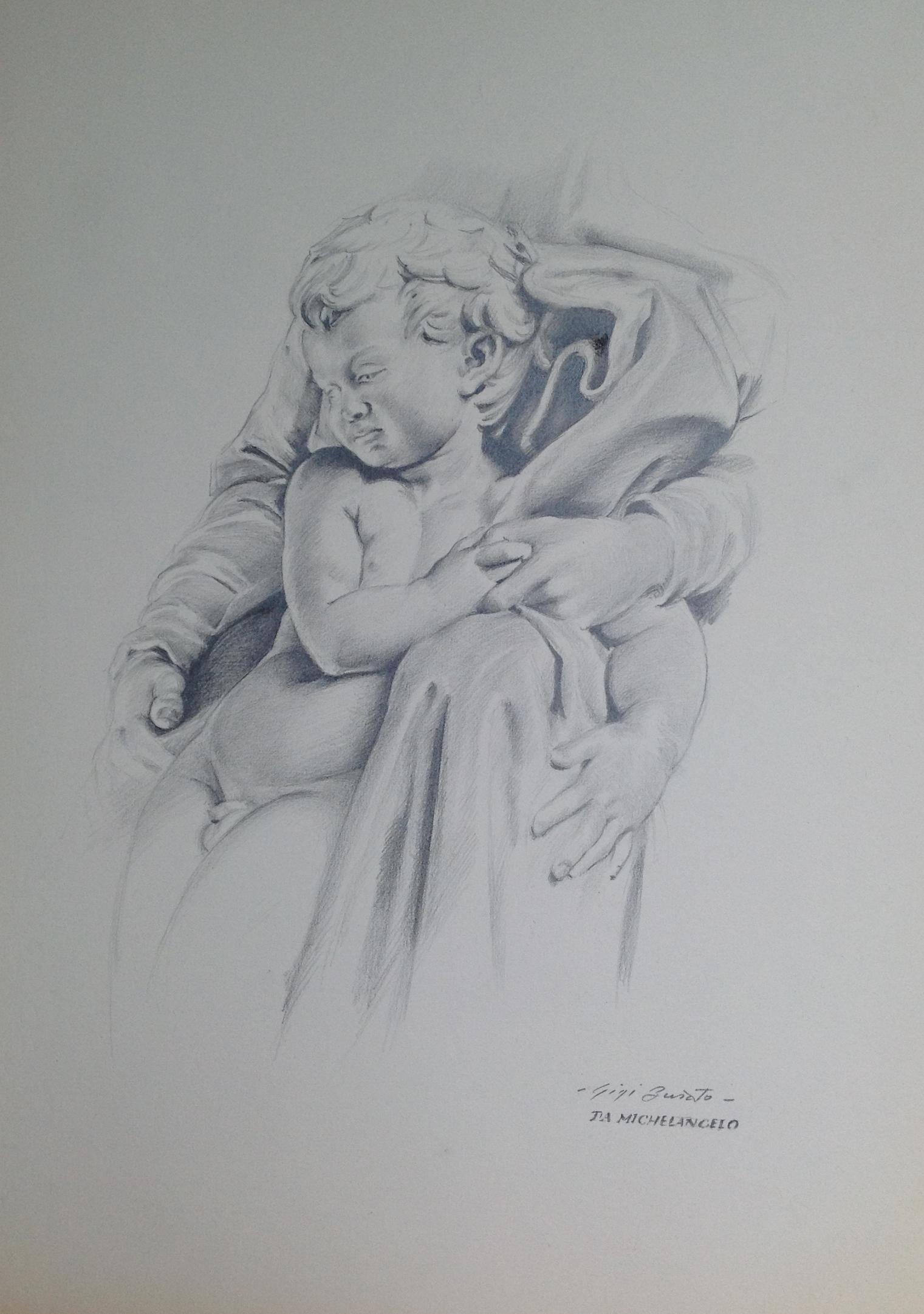 Bambino l 39 arte di gigi busato for Disegni bianco e nero tumblr