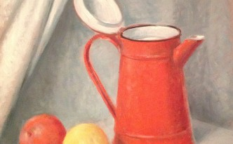 Natura morta di Gigi Busato. Opera pittura olio su tela. Collezione di famiglia